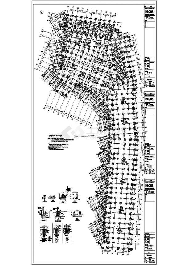 【湖南长沙】住宅小区地下室结构施工图-图一