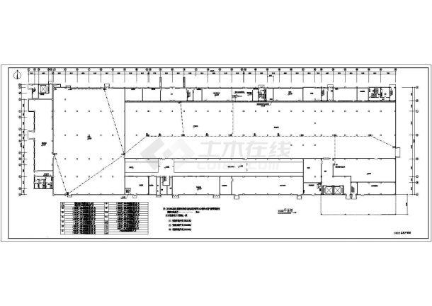 【江苏】某地工厂智能照明系统总平面图-图一
