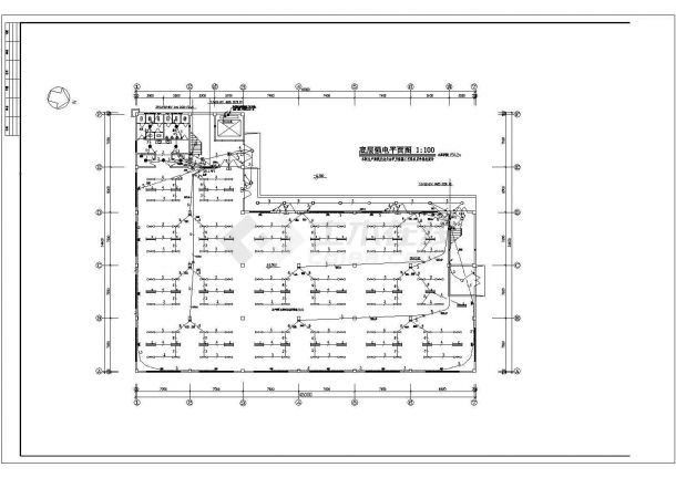 某地厂房电气设计图(含设计说明)-图一