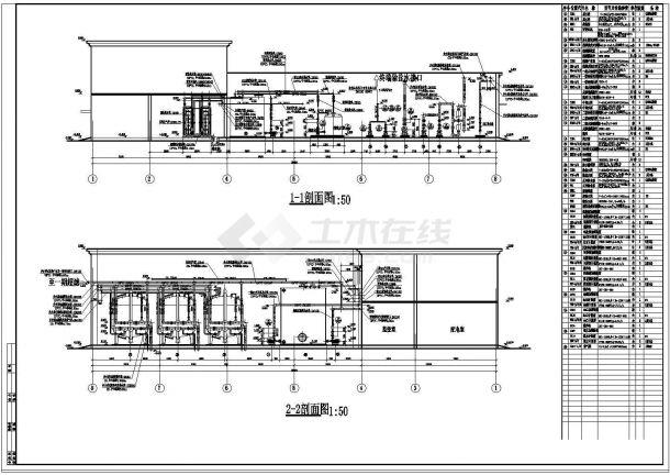 【淮安】水处理站管道布置图设计-图二