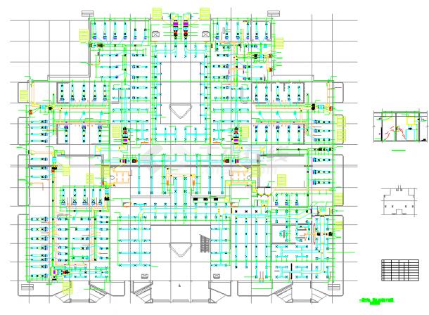 【河南】医院门诊医技大楼空调通风及防排烟系统设计施工图-图一