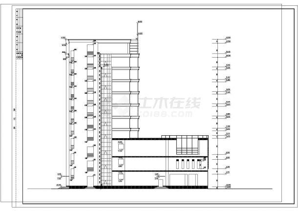 某地高层高档商务酒店建筑设计图纸-图一