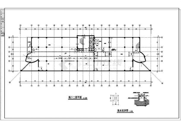 某地高层高档商务酒店建筑设计图纸-图二
