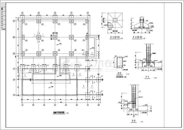 某垃圾电厂循环水泵房框架结构设计施工图-图一