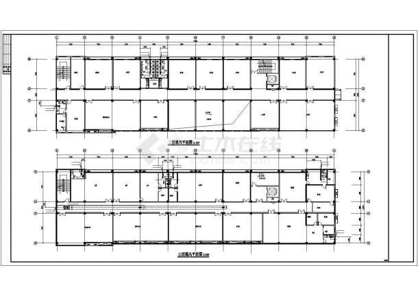 [安徽]药厂综合办公楼空调通风消防系统设计施工图-图一