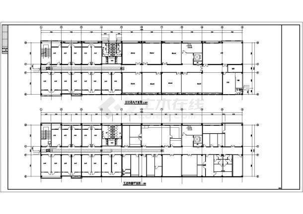 [安徽]药厂综合办公楼空调通风消防系统设计施工图-图二
