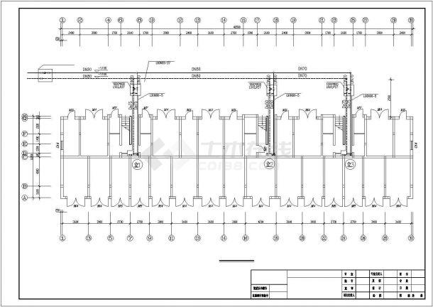 [北京]住宅楼建筑地板辐射采暖系统设计施工图-图一