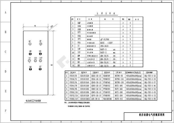 软启动器电气控制原理图(包含附注)-图一