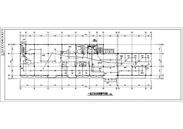某疗养院电气消防图(含火灾自动报警及联动控制系统说明)-图一