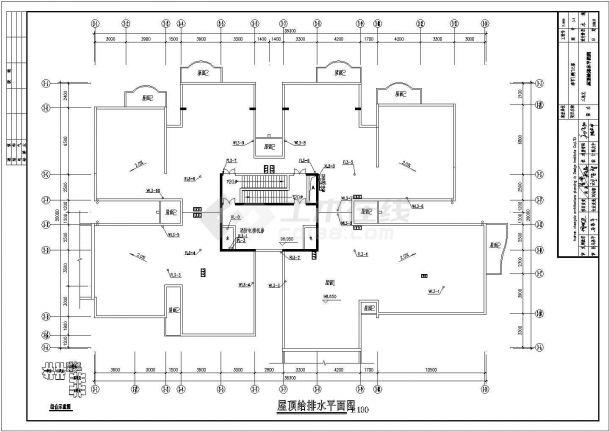 重庆某高层建筑给排水系统设计图-图一