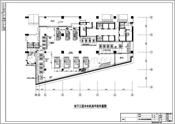 某空调制冷机房及空调机房CAD布置图-图二