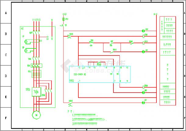 ABB软启动器电气控制原理图-图二