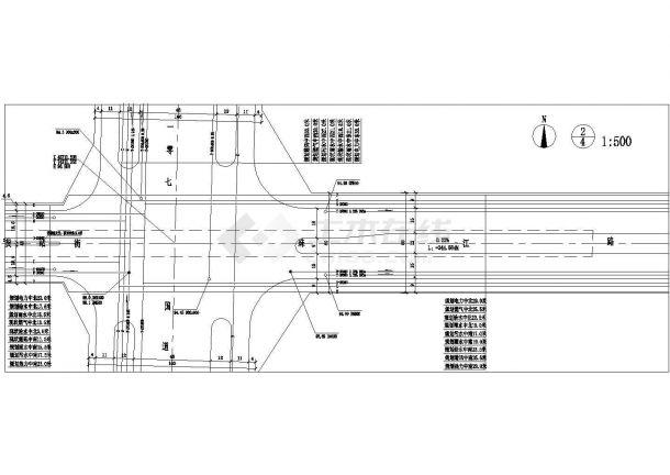 某珠江路道路工程管线综合规划图(共4张)-图二