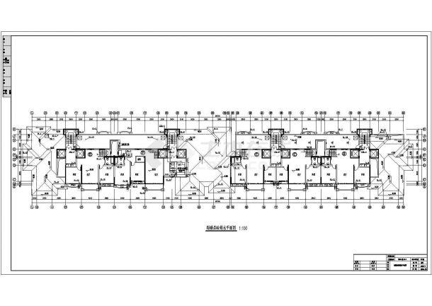 某高档小区高层建筑给排水图纸-图一