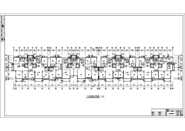 某高档小区高层建筑给排水图纸-图二