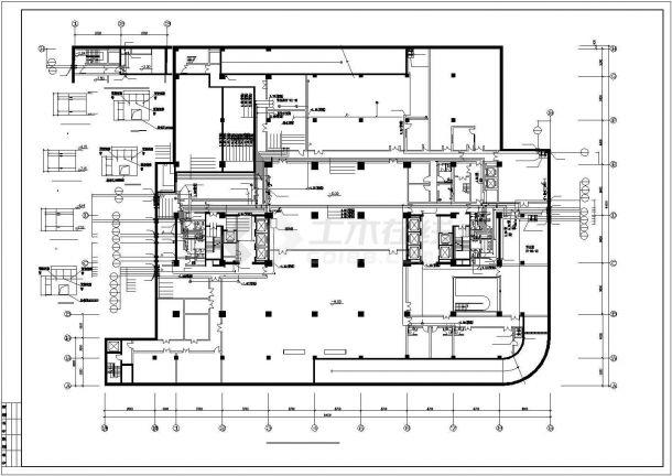 [北京]知名酒店会所给排水施工图(直饮水系统中水回用系统)-图二