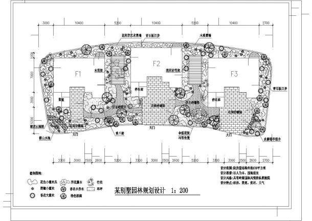 某私家花园园林规划设计图-图一