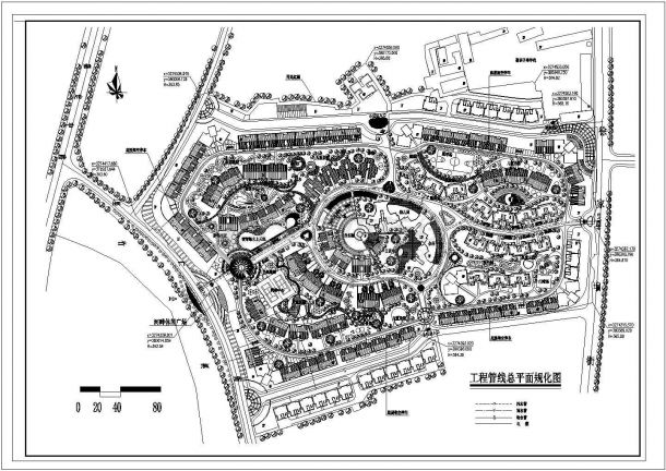 【南京市】某小区工程管线总平面规划图-图一