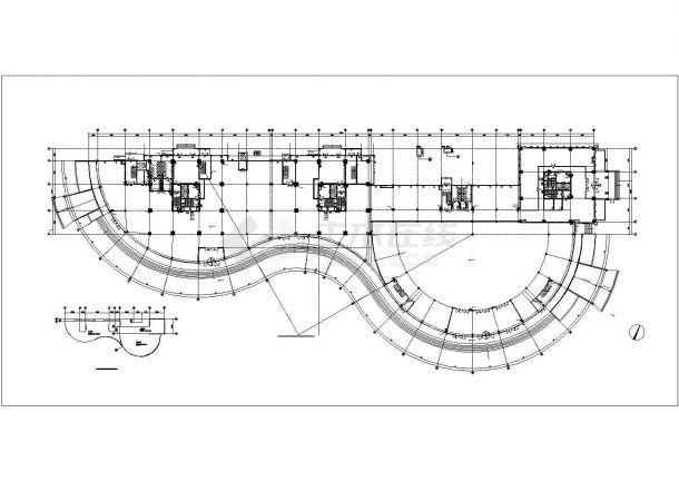 高层综合楼给排水施工图纸(商业、办公、公寓)-图一