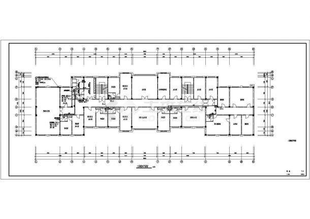 【抚顺】武警支队办公楼办通风设计图-图二