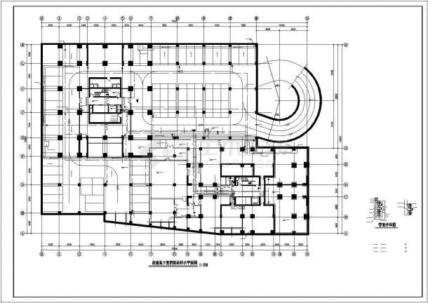 某高层建筑给排水图纸-图一