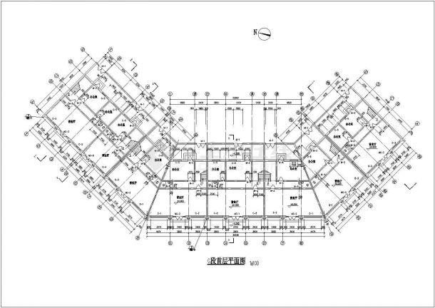 多层仿古式中式居住建筑设计方案(全套施工方案CAD、钢结构)-图一