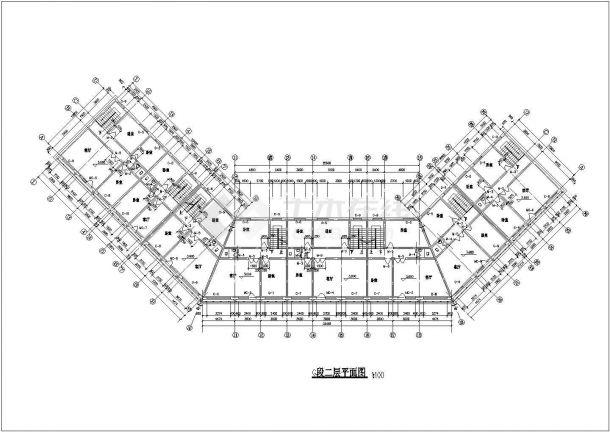 多层仿古式中式居住建筑设计方案(全套施工方案CAD、钢结构)-图二