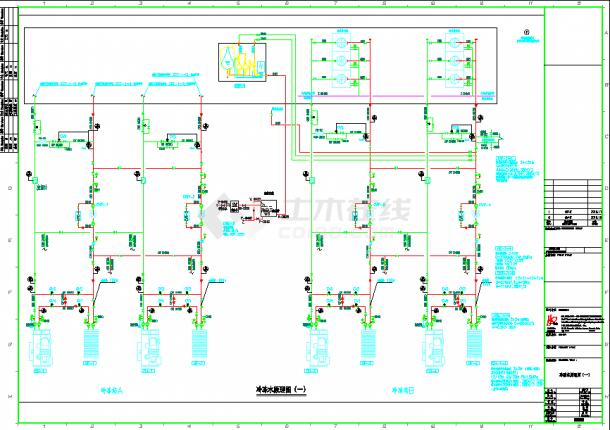 溴化锂吸收式制冷机组三联供暖通设计图-图一
