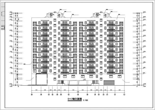 【江苏】某地高层住宅建筑师设计施工图-图一