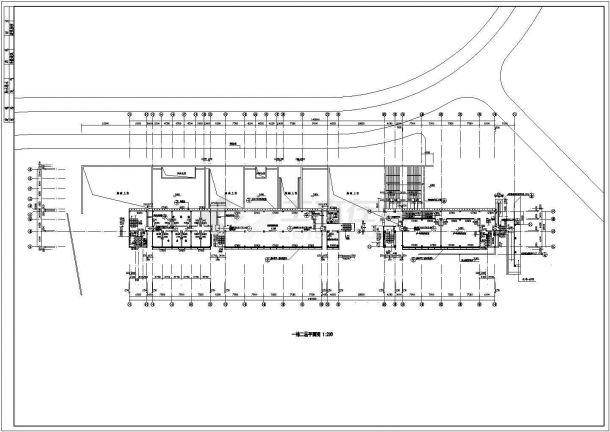 某6985㎡四层理工学院学生活动中心建筑施工图(某著名建筑师设计)-图一