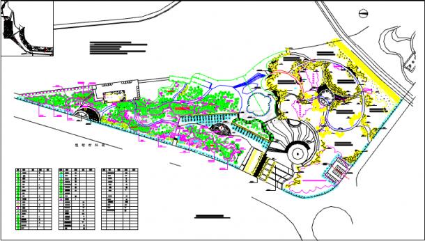 某地小型公园详细植物配置建筑图纸-图一