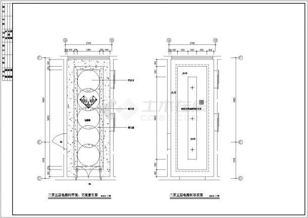 某商业街建筑装修设计图纸(含立面)-图二