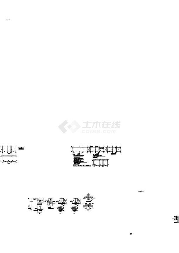 钢框架结构雨棚结构施工图(预应力混凝土管桩)-图一