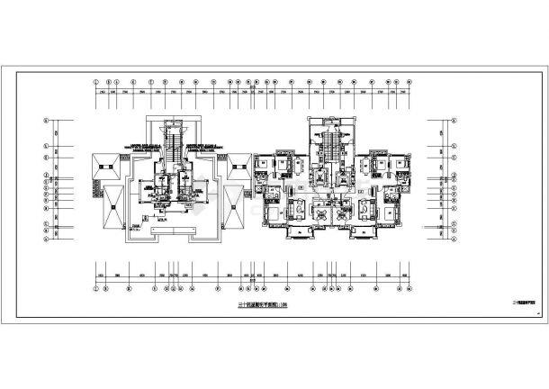 [安徽]中央广场三十七层高档住宅电气全套施工图-图一