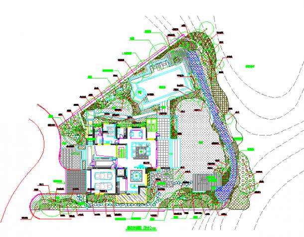 沿海某地城市别墅景观绿化方案设计图-图一