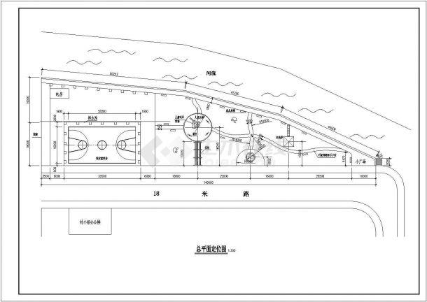 某地区小公园园林绿化施工图(全套)-图一