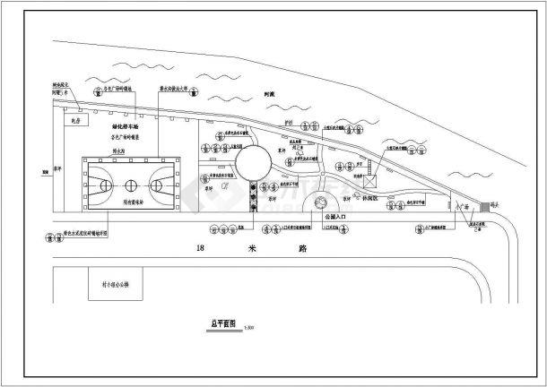 某地区小公园园林绿化施工图(全套)-图二