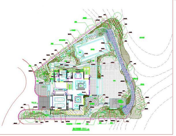 某地小型别墅景观绿化设计方案图纸-图一