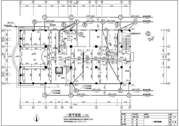 某九层综合楼建筑给排水图纸-图一