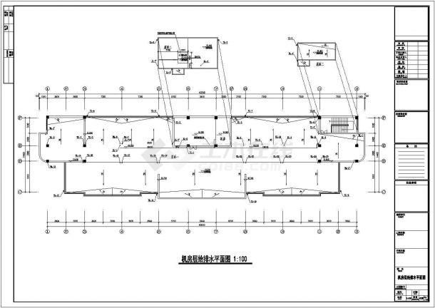[安徽]五层医院综合楼给排水施工图-图一