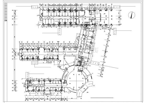 六层医院综合楼给排水图纸-图一