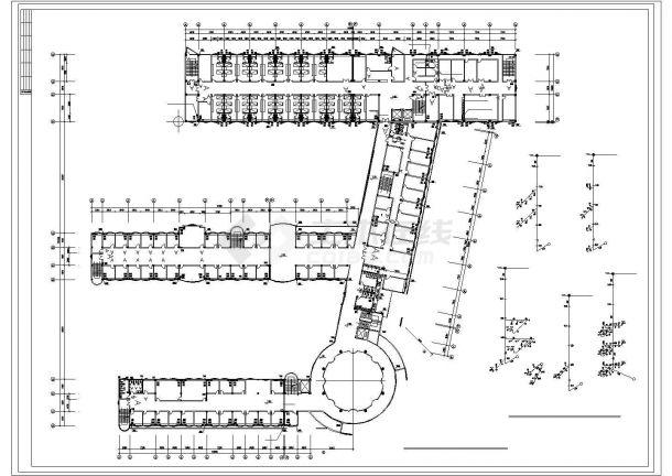 六层医院综合楼给排水图纸-图二