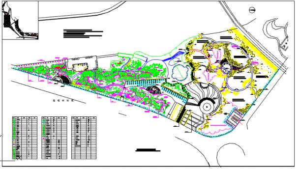 某地小型公园植物配置景观规划图纸-图一