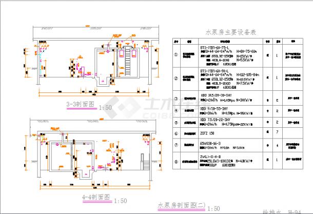 某大型小区地下室水泵房给排水施工图(全套)-图一