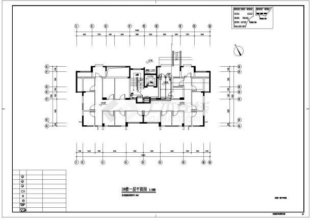 [浙江]某十一层钢筋混凝土结构安置房工程多层住宅楼智能化图纸(含人防)-图一