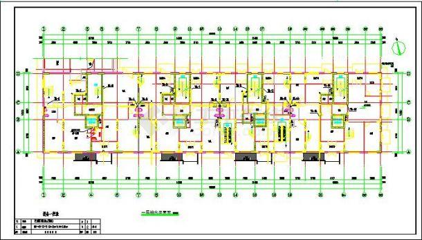 某地小高层住宅给排水设计施工图纸-图一