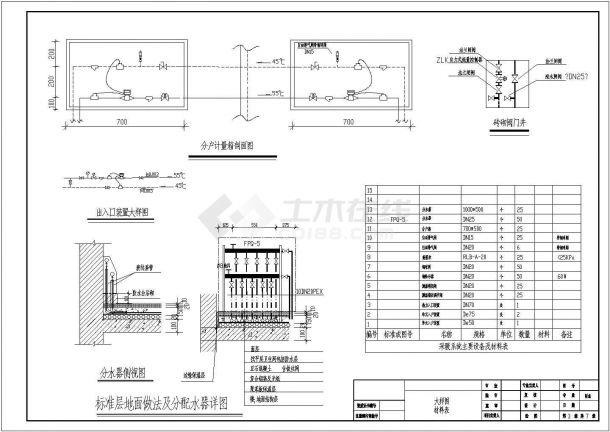 [北京]住宅楼建筑地板辐射采暖系统设计施工图(含设计说明)-图二