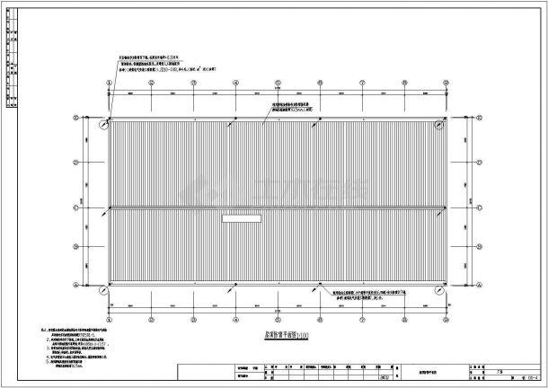 某厂单层工业厂房电气全套设计施工图纸-图一