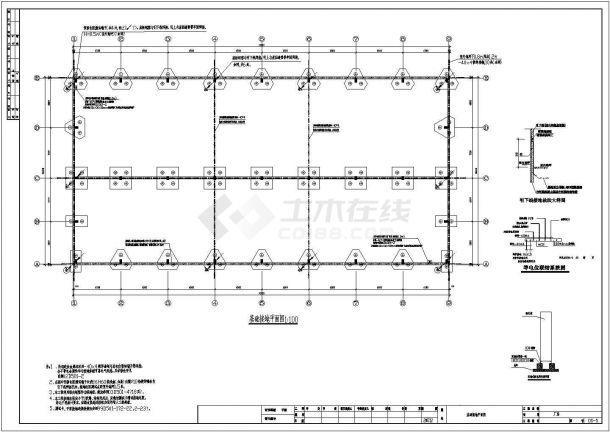 某厂单层工业厂房电气全套设计施工图纸-图二