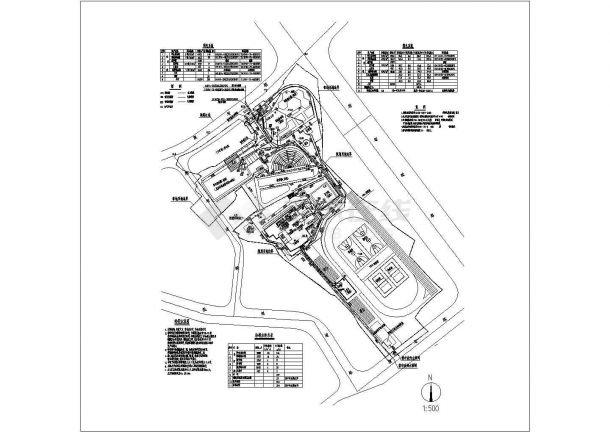 某学校的水电管线综合图纸(含设计说明)-图一